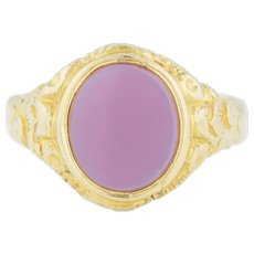 Heavy Agate 18ct Gold Victorian Signet Ring c.1890