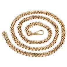 """Victorian 9ct Gold Belcher Chain Necklace, 49"""" (21.2g)"""