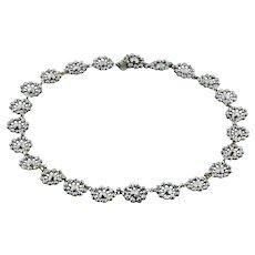 """Georgian Cut Steel Necklace, 16"""""""