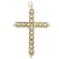 Antique 15ct Gold Cross Pendant