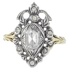 Georgian Crowned Heart Diamond Ring (0.30ct)