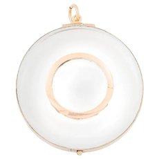 Large Georgian Glass Locket in 9ct Rose Gold