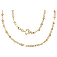 Antique 9ct Gold Fancy Link Chain, 18.5""