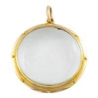 Antique 15ct Gold Double Sided 'Porthole' Locket
