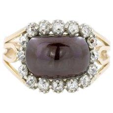 Stunning Georgian Garnet Diamond Ring
