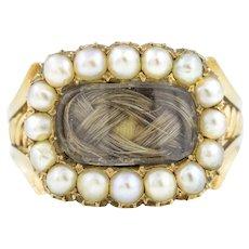 Rare Georgian 15ct Gold Mourning Ring c.1821