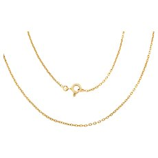 Antique French 18ct Gold Pendant Chain, 16""