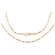 "Antique Gold Paperclip Chain, 18"" (9g)"