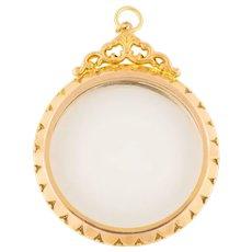 Edwardian Gold Ornate Shaker Locket