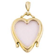 Gold Heart Art Nouveau Locket