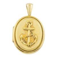 Victorian 15ct Gold Anchor Locket