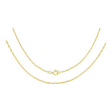 """Antique Gold Paperclip Chain, 21"""" (4.8g)"""