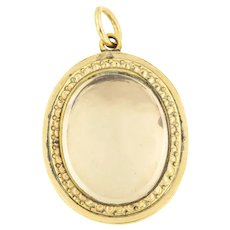 "Victorian Gold Shaker Locket Inscribed ""Amy"""