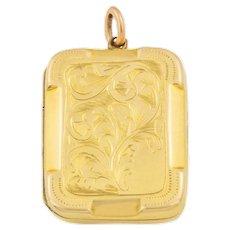 Antique Gold Rectangle Locket