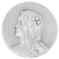 Art Nouveau Silver Portrait Slider