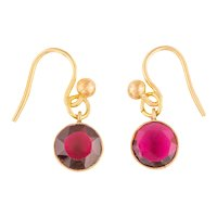 Antique Gold Red Paste Earrings