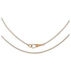 """Antique 9ct Gold Thin Curb Chain, 21"""" (5.1g)"""