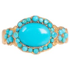 Rare Georgian 18ct Gold Turquoise Ring