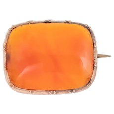 Antique 12ct Gold Carnelian Brooch