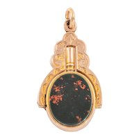 Antique Gold Bloodstone Sardonyx Key Fob
