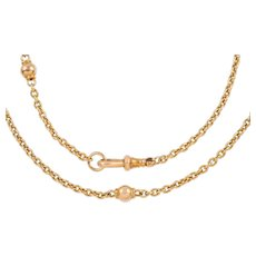 "Antique 15ct Gold Ball Chain, 19"" (12g)"