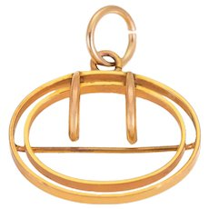 Antique 15ct Gold Buckle Pendant