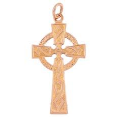 Antique Gold Celtic Cross Pendant, c.1918