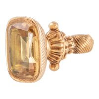 Georgian 18ct Gold Foiled Citrine Fob, (7.20ct)