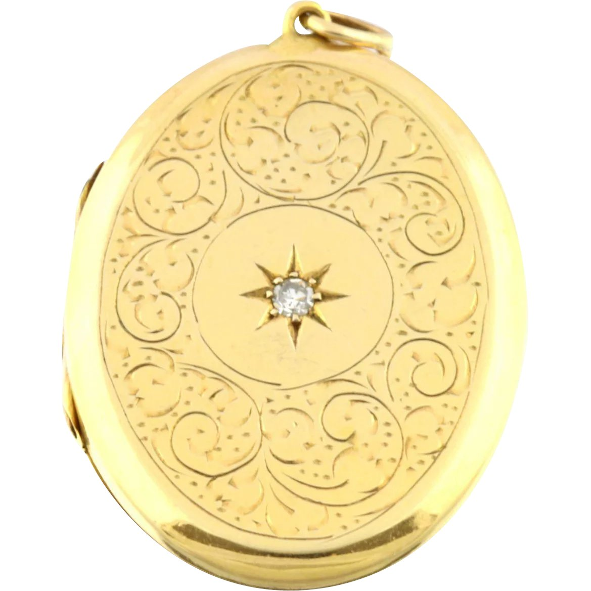 67a72247182 Beautiful Vintage 9ct Gold Diamond Locket, with 18