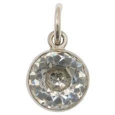 Edwardian Silver Diamond Paste Charm