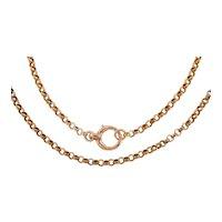 """Antique 9ct Gold 24.5"""" Belcher Chain, (14.3g)"""