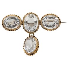 Victorian Ornate Rock Crystal Brooch, (23.20ct)