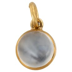 Victorian 18ct Gold Moonstone Charm (1.50ct)