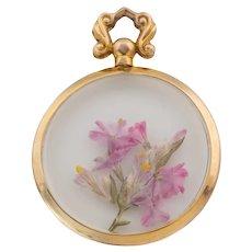 Edwardian Gold Round Glass Locket, c.1907.