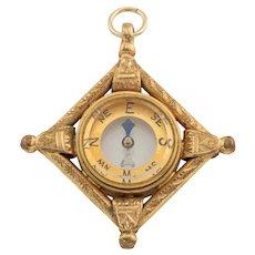 Victorian Fancy Compass Pendant