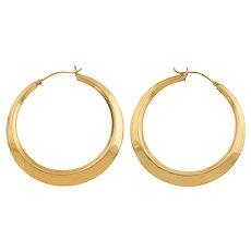 Large Solid 9ct Gold Hoop Earrings