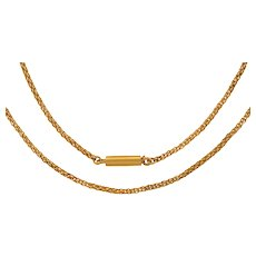 """Antique 15ct Gold Short Rope Chain, 15 & 1/2"""" (6.1g)"""