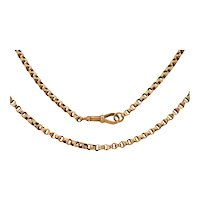 """Victorian 9ct Gold Chunky Belcher Chain, 19 & 3/8"""" (10.9g)"""