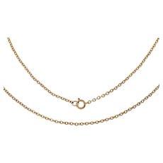 """Antique 16"""" 9ct Gold Pendant Chain (2.7g)"""