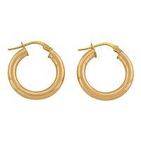 Solid 9ct Gold Petite Round Hoop Earrings