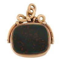 Victorian 9ct Gold Bloodstone Carnelian Fob