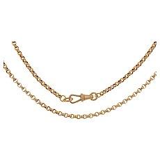 """18.5"""" Victorian 9ct Gold Belcher Chain, (9.6g)"""