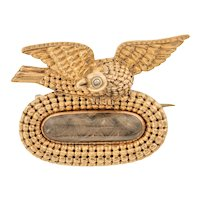 9ct Gold Georgian Mourning Brooch