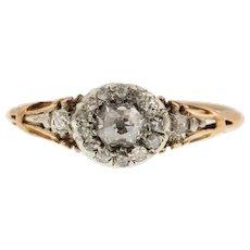 Georgian Rococo Diamond Cluster Ring (0.27ct)
