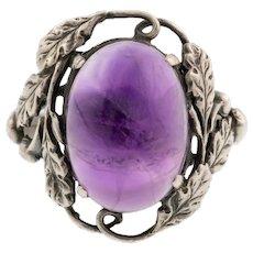 Bernard Instone Amethyst Ring in Sterling Silver