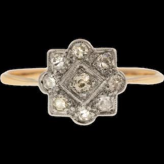 Art Deco Diamond Cluster Ring, (0.23ct)