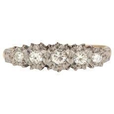 18ct Gold Art Deco Diamond Five Stone Ring