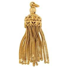Victorian 15ct Gold Tassel Charm Pendant