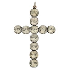 Georgian Paste Silver Cross