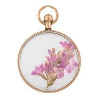 Edwardian Round Pressed Flower Locket, c.1904